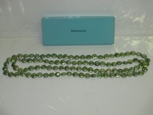 TIFFANY & CO. GREEN LUSTER PEARL NECKLACE
