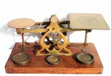 S. MORDAN INLAND LETTER POST BRASS SCALE