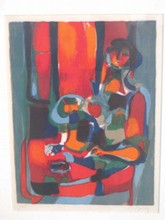 J. NOULY - ABSTRACT FIGURE SERIGRAPH