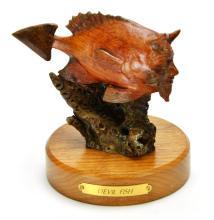 Devil Fish Wood Carved Sculpture