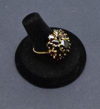 Garnet 14 Kt Gold Cluster Ring