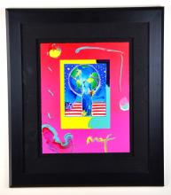 Framed Peter Max Painting