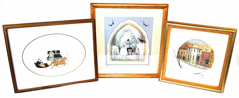 Listed Artist, Patricia Buckley Moss, Collection of 3 Signed Prints