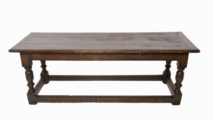 17th Century Jacobean Oakwood Trestle Table