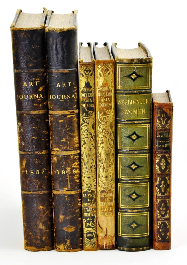 Rare Collection of 6 Various Antique Books dated 1823-1858