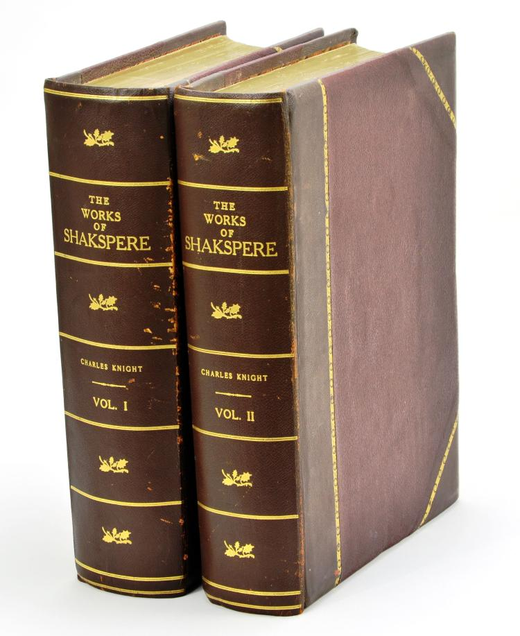"Vintage Imperial Edition 2 Volume Set ""The Works of Shakespeare, Edited by Charles Knight"""