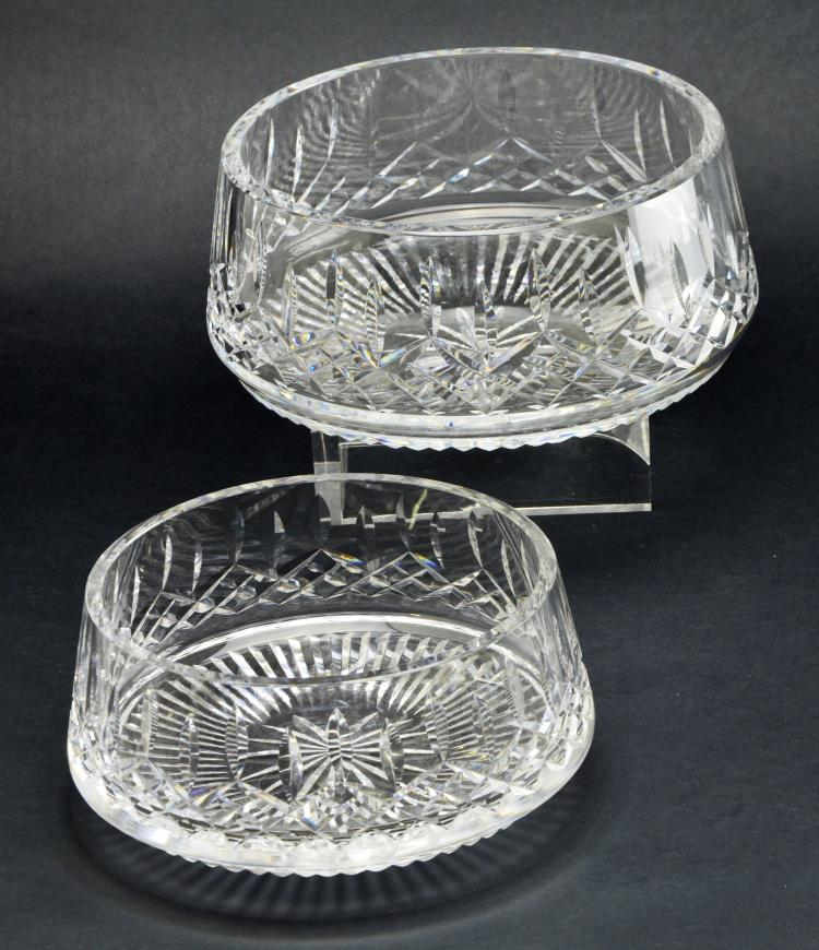 Set of 2 Waterford Crystal Lismore Rounded Bottom Serving Bowls