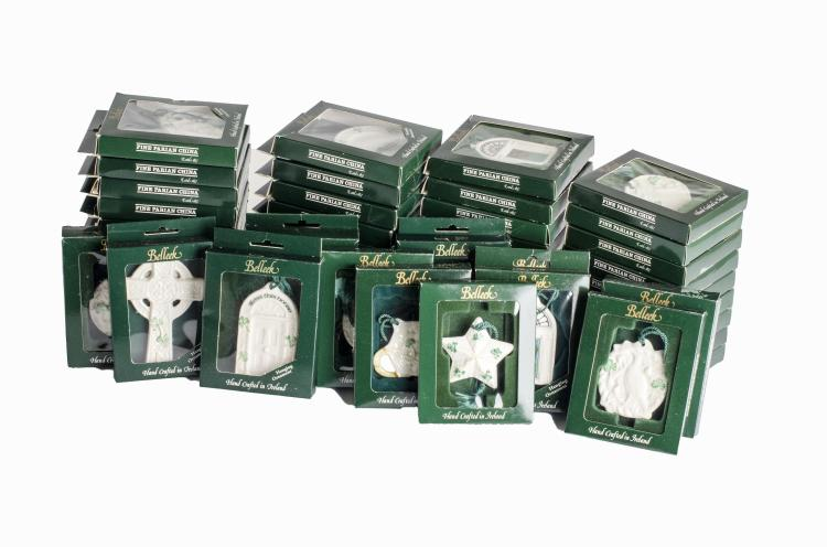 Belleek 49 Piece Fine Parian China Christmas Ornaments