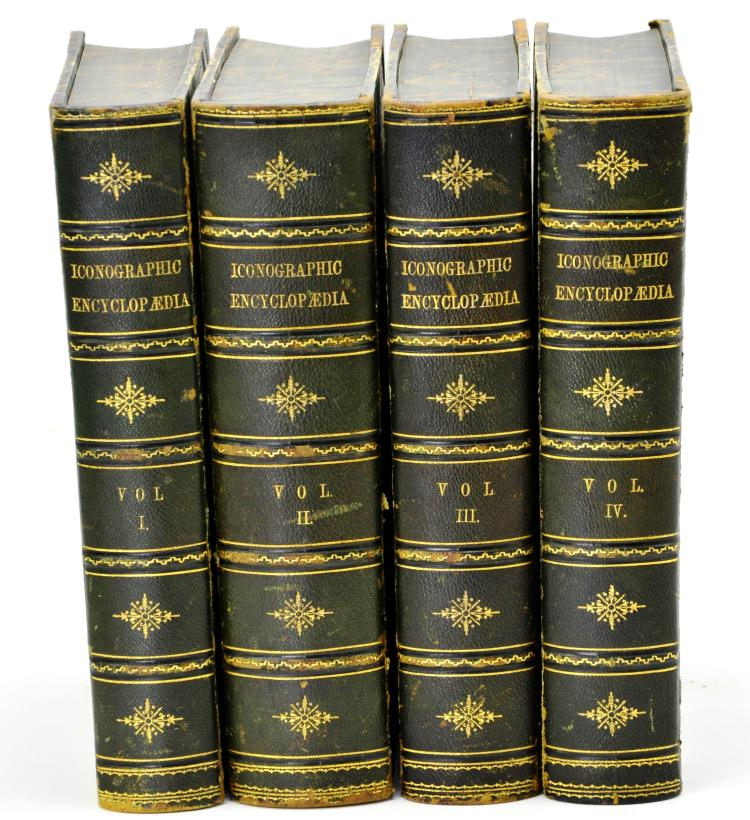 "Rare 4 Volume ""Iconographic Encyclopedia of Science, Literature, and Art"" By J. G. Heck, 1851"