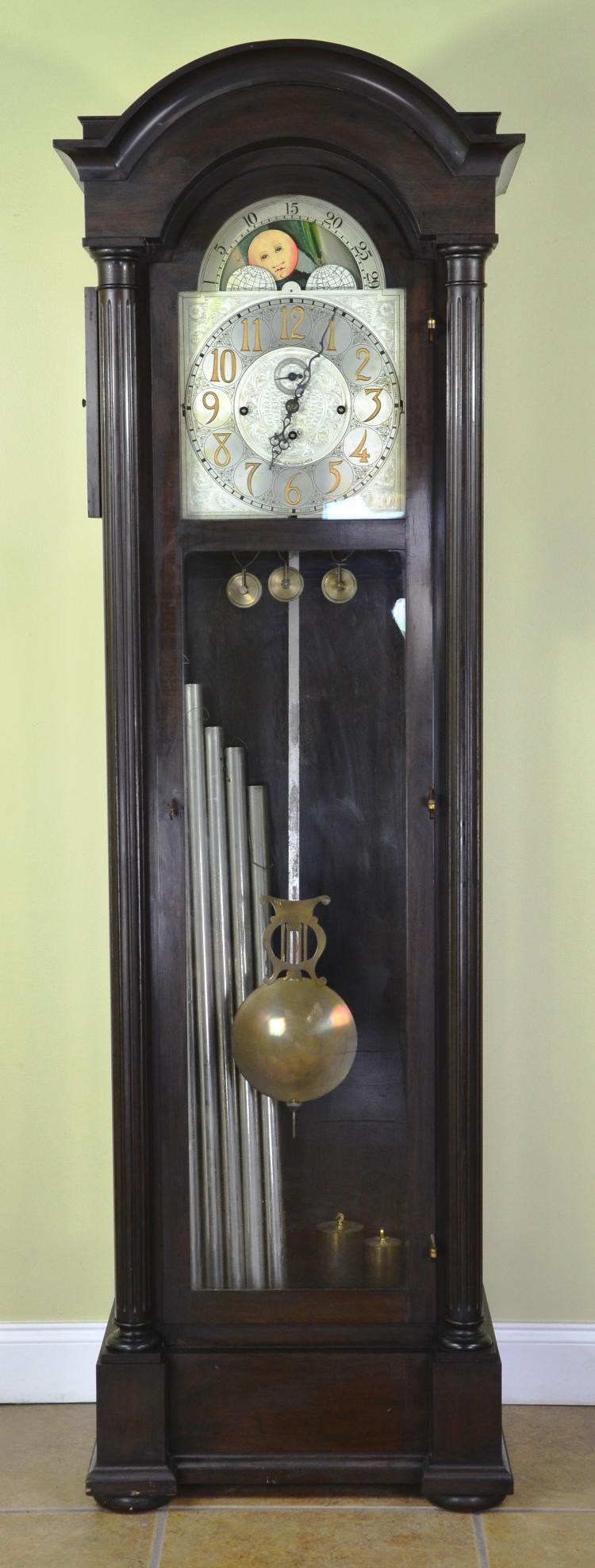 "Fine Vintage 6 Tube Grandfather ""Charles Jacques"" Chiming Clock, GEO Borgfeldt & Co. NY"