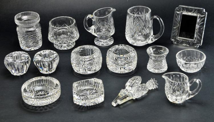 Set of 16 Pieces of Waterford Crystal Lismore Serving Pieces and Accessories