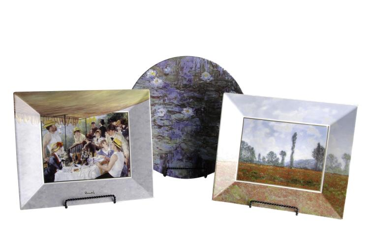 Artis Orbis Goebel, Set of 3 Limited Edition Platters of Monet & Renoir
