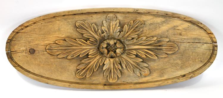 Vintage Reclaimed Wood Floral Architectural Wall Plaque