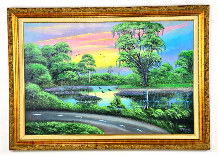 "Original Oil on Canvas, by Listed Artist, Al ""Young Blood"" Black, Original Highwaymen, C. 1997-2004"
