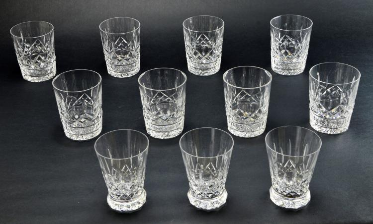Set of 11 Waterford Crystal Lismore Juice and Cocktail Glasses