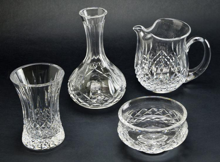 Set of 4 Waterford Crystal Lismore & Complimentary Serving Pieces and Vases