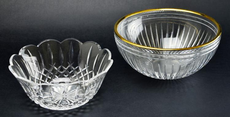 Pair of Waterford Crystal Hand Cut Bowls