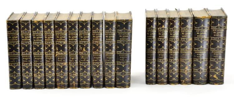 "1899 16 Vol Book Set ""ALF LAYLAH WA LAYLAH Arabian Nights, Thousand Nights and a Night"" by Burton"