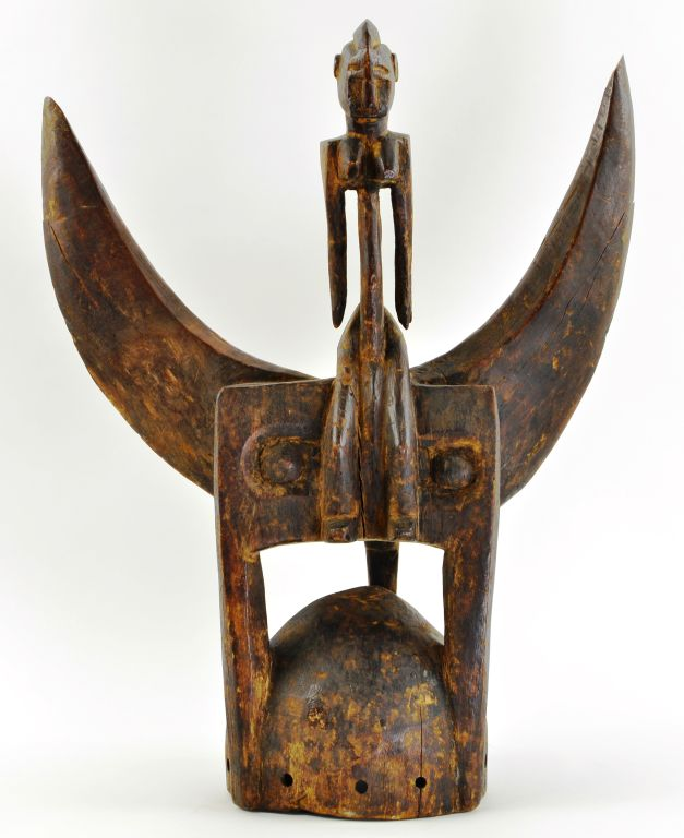 African Senufu Carved Wood Helmet Mask, Ivory Coast, from the Geoffery Holder Collection