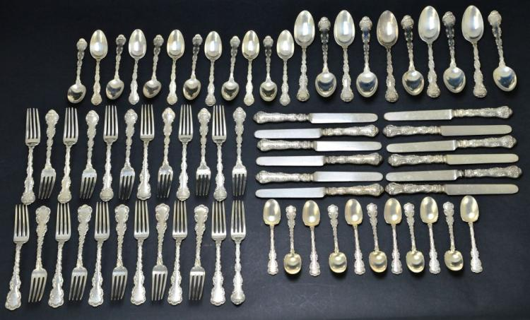 Set of 70 Duhme 1897 & Other Complimentary Pattern Sterling Silver Flatware, 58.03
