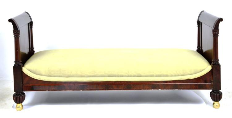 Antique Upholstered French Day Bed, Dow Museum Collection
