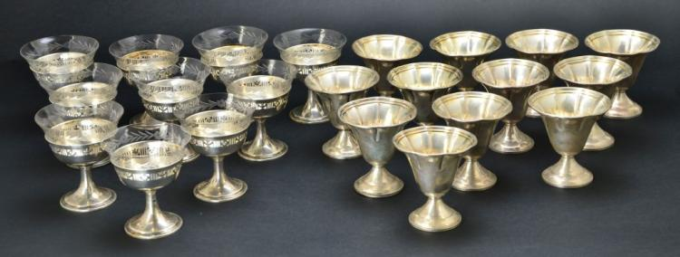 Collcetion of Sterling Goblets