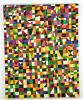 "Geometric Painting ""NDEBELE"" by Renowned Listed Artist Goncalo Ivo"