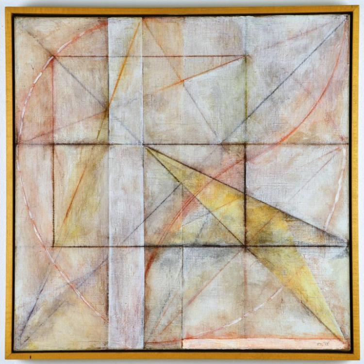 Abstract Encaustic Mixed Media Painting by Artist Harry Nadler,