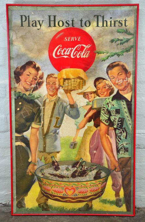 Antique Coca Cola Advertising Poster