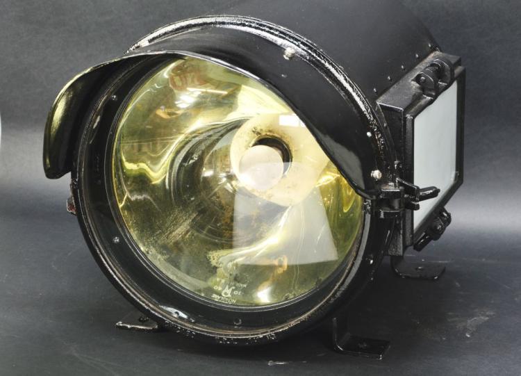 Antique Train Headlight : Antique steam locomotive railroad iron headlight by pyle nat