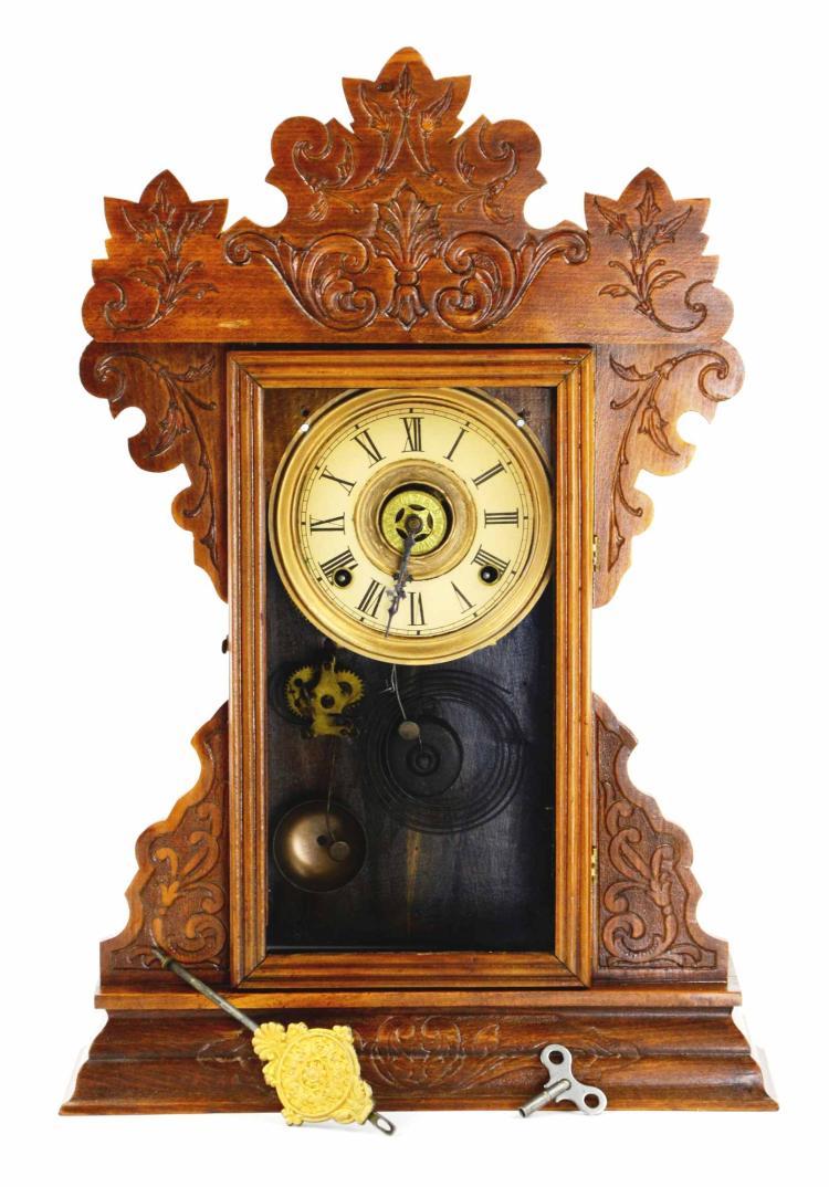 Antique wood gingerbread mantle shelf clock - Antique clock designs for your home ...