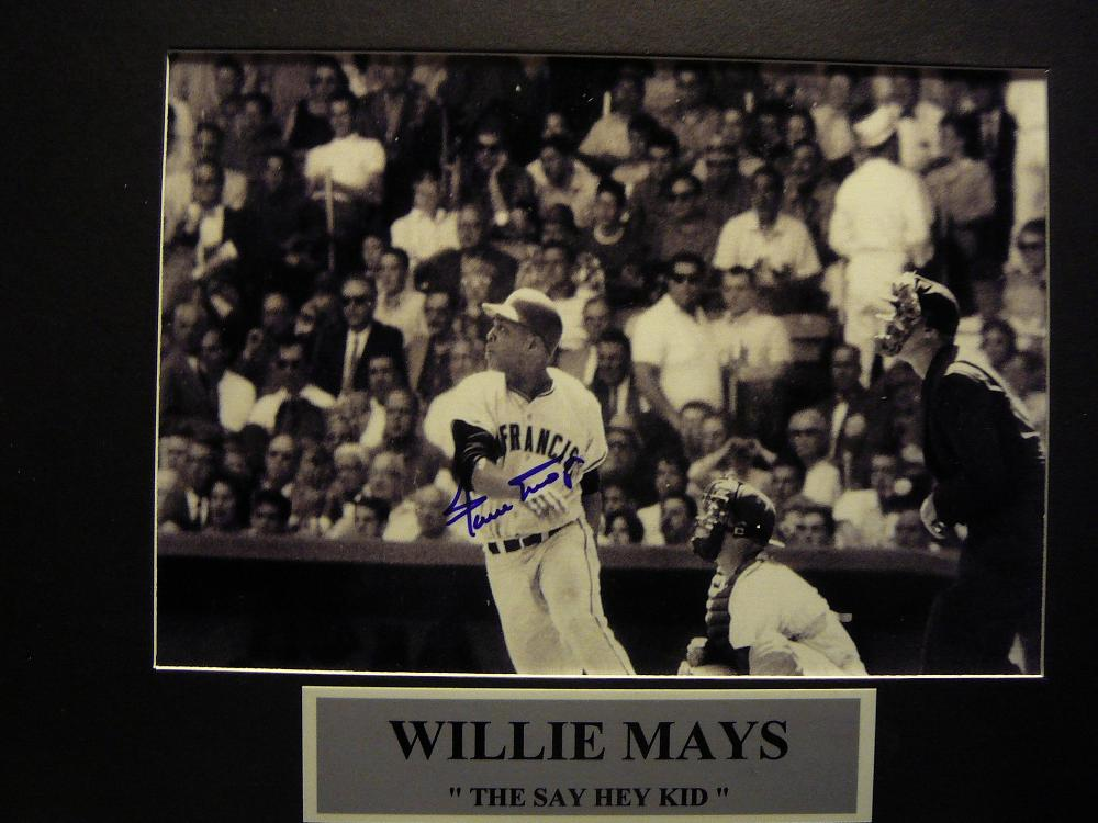 Willie Mays Autographed Photograph
