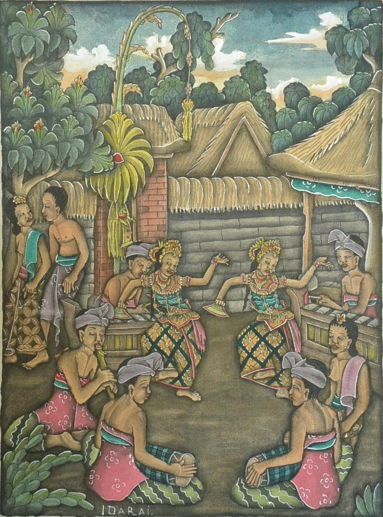 Idarai bali indonesia painting watercolor on canvas cloth Paintings that are worth a lot of money