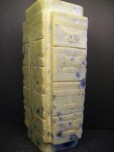 A FINELY CHINESE WHITE AND RUSSET JADE CONG--19.7cm High. 2353g