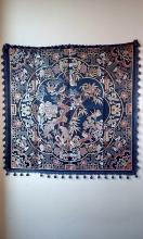 A finely and very rare Chinese  eight auspicious emblazonry and the six treasures in the house emblazonry Kesi Embroidery