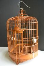 A Finely Chinese Carved Bamboo Birdcage Qing Dynasty(1644-911)