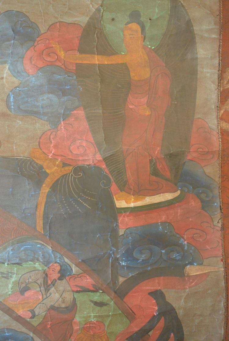 Rare larger qing dynasty tibetan thanka Paintings that are worth a lot of money