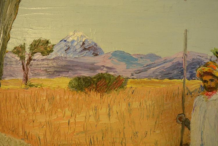 Oil painting countryside views artist e c wates Paintings that are worth a lot of money