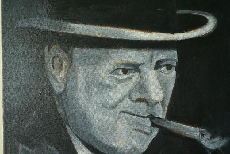 Oil painting winston churchill Paintings that are worth a lot of money