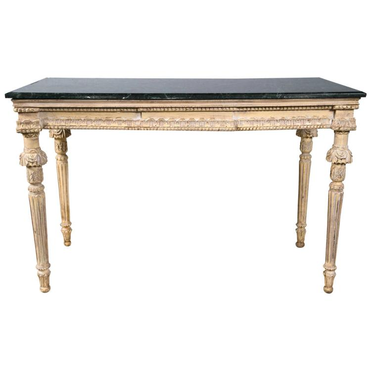 Louis XVI Marble Top Console Table manner of Maison Jansen