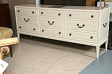 Tommi Parzinger Originals Triple Dresser Cabinet with Lighted Top