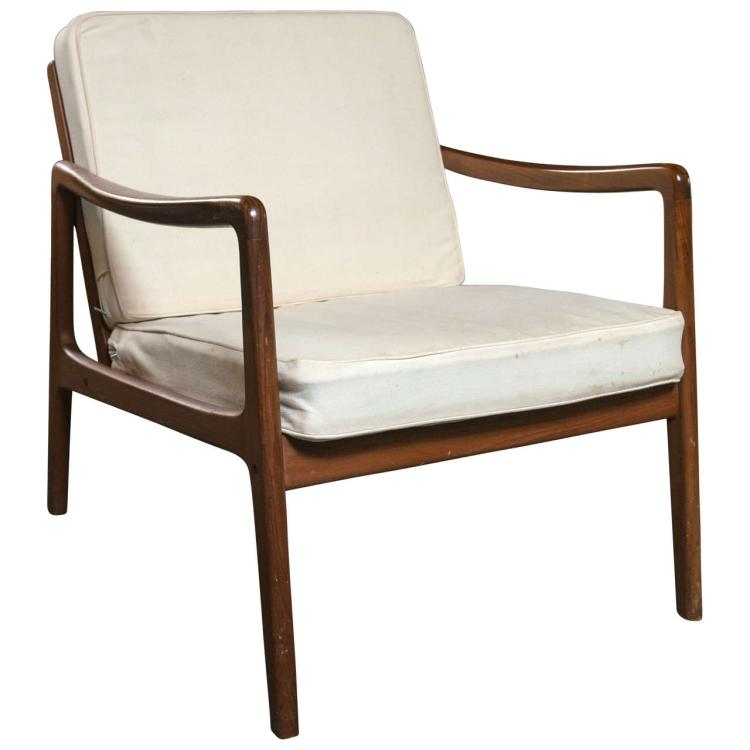 Ole Wanscher Mid-Century Teak Lounge Chair by John Stuart