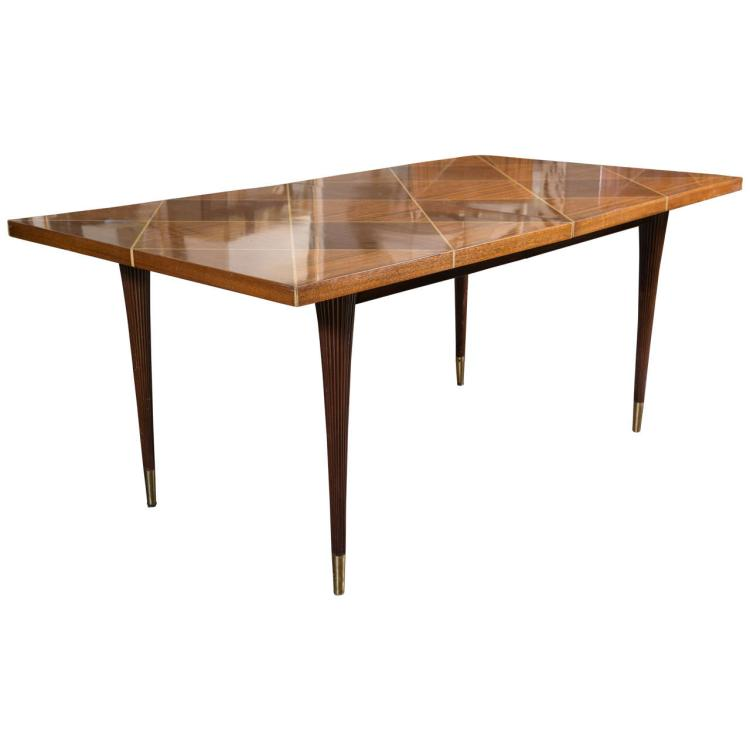 Tommi Parzinger Dining Table with Two Leaves by Charak