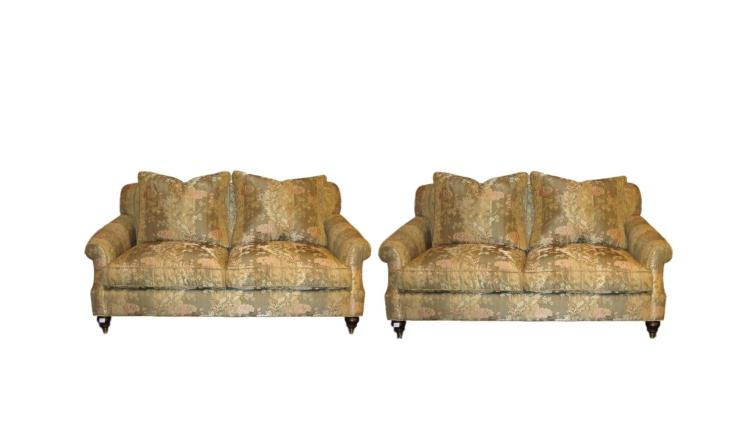 A Pair of Edward Ferrell Signed Love Seats