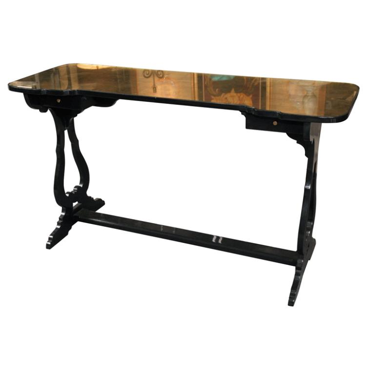 Maison Jansen Glass Top Console Table