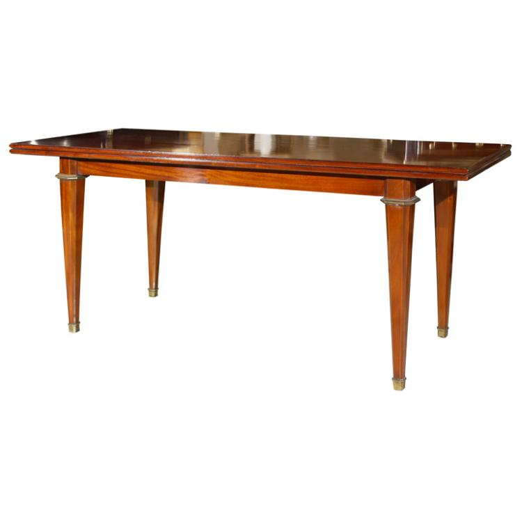 Mahogany Flip Top Console Table Stamped Jansen