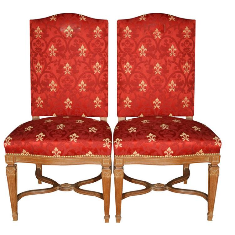 Pair of Stamped Jansen Side Chairs