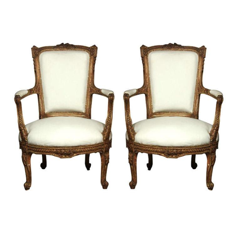 Pair of Stamped Maison Jansen Armchairs