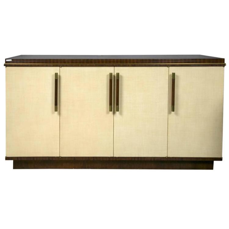 Jonathan Charles Buffet Sideboard Rosewood and Parchment
