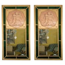 Pair of Finest Jansen Trumeau Mirrors
